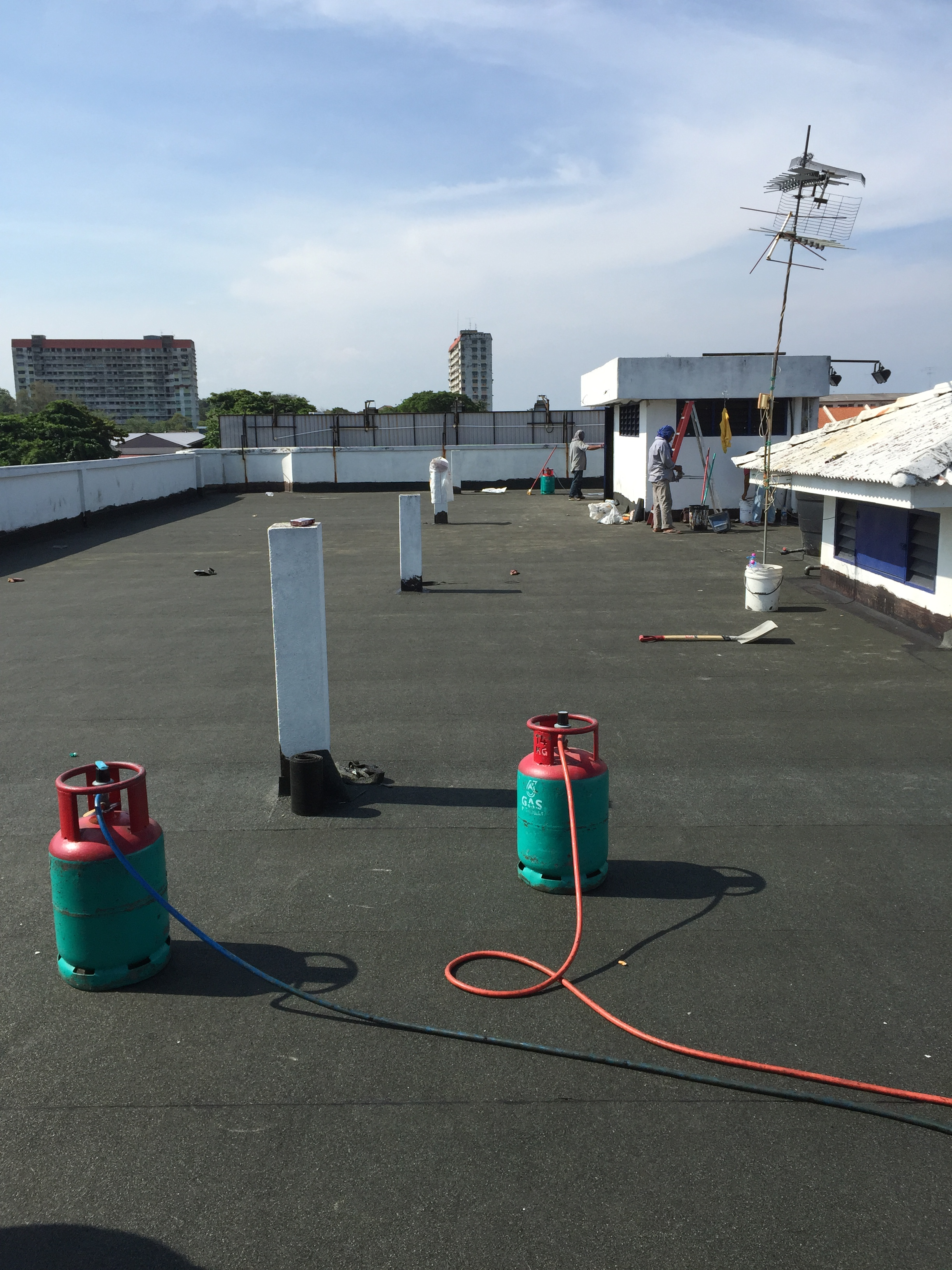 Torch Applied Membrane at Flat Roof Top