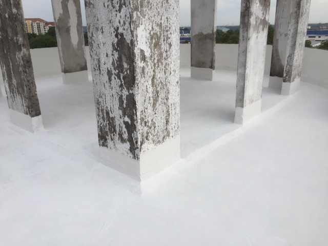 Waterproofing Works at the Flat Roof Top
