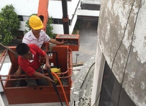 Wall cracks causing water seepage